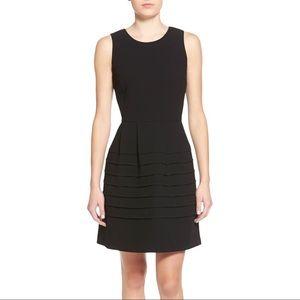 Madewell Midnight Dress Layered Hem Black 4